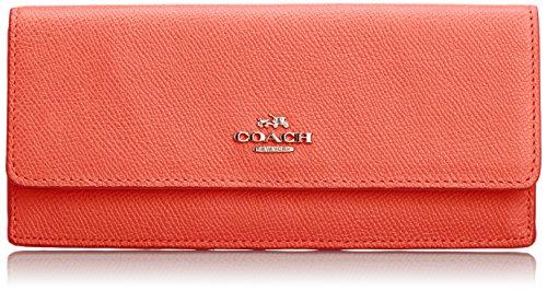 COACH - Portafoglio; Donna; Chiusura con bottone; Taschino posteriore con zip; Rosso - Female