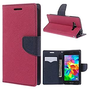 Samsung Galaxy Core 2 G355H Mercury Dairy Style Flip Cover by Case Cloud - Pink