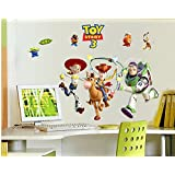 Revesun Toy Story Buzz Lightyear Kids Wall Sticker For Kids Room Wall Decals Kids Decorative Stickers DIY Cartoon Stickers