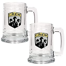 Columbus Crew Mls 2Pc 15Oz Glass Tankard Set - Primary Team Logo
