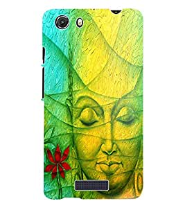 Fuson 3D Printed Lord Buddha Designer Back Case Cover for Micromax Unite 3 Q372 - D562