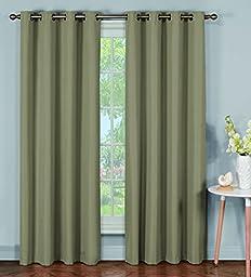 Bella Luna Emma Microfiber Room Darkening Extra Wide Grommet Curtain Panel Pair 108 x 84\