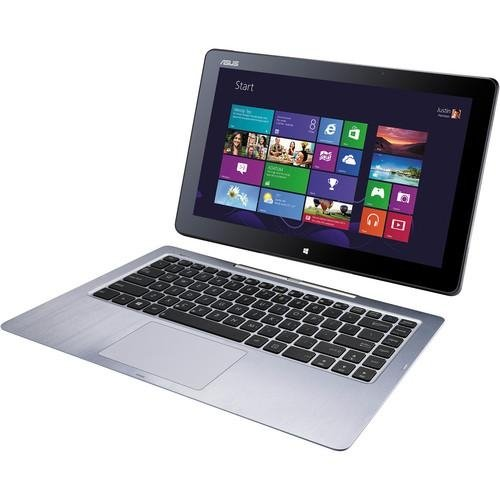 Asus Transformer Book T300La-Xh71T 13.3 Inch Touchscreen Intel Core I7-4500U 1.8Ghz/ 8Gb Ddr3L/ 256Gb Ssd + Tpm/ Usb3.0/ Windows 8 Pro Tablet W/ Wireless Keyboard (Silver Aluminum) front-675947