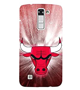 EPICCASE Red Faced Bull Mobile Back Case Cover For LG K10 (Designer Case)
