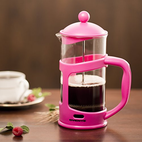 Ovente FPT34F 34oz French Press Coffee Maker, Pink