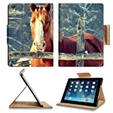 Ranch Farm Animal Horse Trees Apple Ipad Air Retina Display 5th Flip Case Stand Smart Magnetic Cover Open Ports Customized Made to Order Support Ready Premium Deluxe Pu Leather 9 7/16 Inch (240mm) X 7 5/16 Inch (185mm) X 5/8 Inch (17mm) Liil Ipad Professional Ipad generation Accessories Retina Display Graphic Background Covers Designed Model Folio Sleeve HD Template Designed Wallpaper Photo Jacket Wifi 16gb 32gb 64gb Luxury Protector