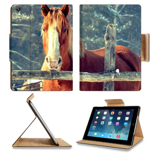 Ranch Farm Animal Horse Trees Apple Ipad Air Retina Display 5Th Flip Case Stand Smart Magnetic Cover Open Ports Customized Made To Order Support Ready Premium Deluxe Pu Leather 9 7/16 Inch (240Mm) X 7 5/16 Inch (185Mm) X 5/8 Inch (17Mm) Liil Ipad Professi