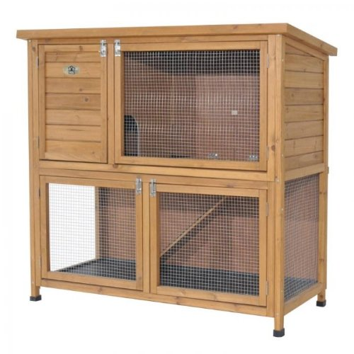 Rabbit Hutch With Run Flatpack 122cm