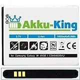 Akku-King Battery for Samsung Galaxy W i8150 / Wave 3 S8600 / X Cover S5690 / Omnia W i8350 - Li-Ion replaces EB484659VU - 1550mAh