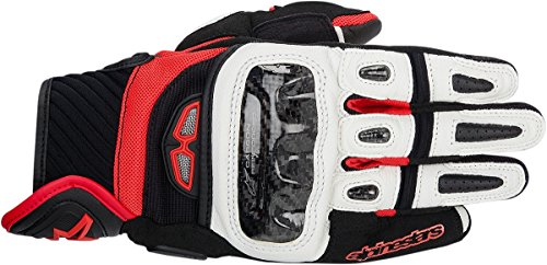 Alpinestars GP Air Leather Gloves Black/White/Red Lg 3567914-123-L