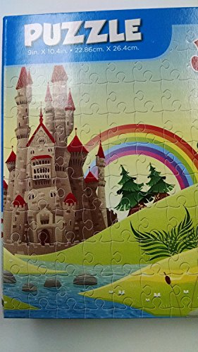 100 Piece Cartoon Rainbow Castle Jigsaw Puzzle - 1