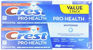 Crest Pro-Health Whitening Fresh Clean Mint Flavor Toothpaste, 6 Ounce,Twin Pack