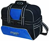 Storm Deluxe Tote Bowling Bag (2-Ball), Blue