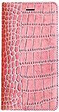 【日本正規代理店品】GAZE iPhone6 レザーケース 天然牛革 Vivid Croco Diary ピンク ダイアリータイプ GZ3979i6