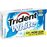 Trident White Sugar Free Gum, Peppermint, 16-Piece Package (Pack of 9)