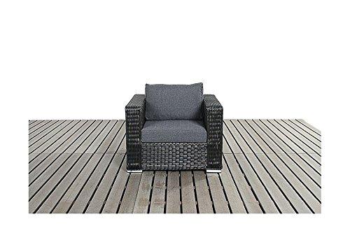 Gartenmöbel Rattan Sessel Manhattan Schwarz, 1 Stück