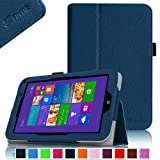 Fintie Toshiba Encore WT8 (Windows 8.1) Folio Case Cover - Premium Leather With Stylus Holder Only Fit for Toshiba Encore WT8 Windows 8.1 8-Inch Tablet - Navy