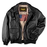Landing Leathers Men's Air Force A-2 Flight Leather Bomber Jacket