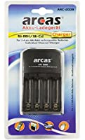 Arcas 20702009 Chargeur pour 4 Accus AA/AAA Noir