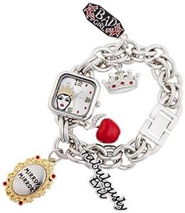 Disney Women's VL2001 Evil Queen Silver Dial Silver-Tone Charm Watch
