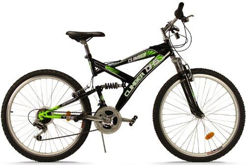 mountainbike 24 zoll climber vollgefedert 18 gang shimano. Black Bedroom Furniture Sets. Home Design Ideas