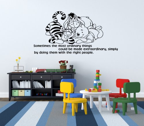 Winnie The Pooh Kids Nursery Wall Sticker Decal 8 front-489019