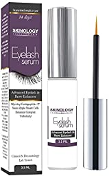 Eyelash Growth Serum 3.5 ml - BEST Scientific Lash Enhancing Treatment for Longer, Fuller Eyelashes & Thicker Eyebrows - No Irritation, Dermatologist Tested Product