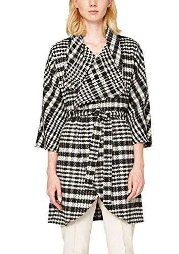 s.Oliver Premium - in Karomuster, Cappotto da donna, nero (grey/black check 99n1), 44