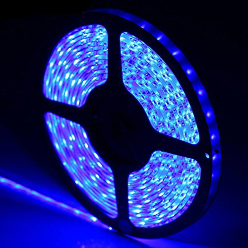 Hintel Flexible Led Strip Light 5M 300Leds/Roll Smd 3528 Waterproof For Diy Car Light Xmas Club Home Offices Garden - Blue