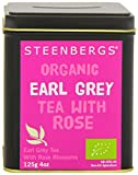 Steenbergs Organic Earl Grey Tea with Rose Petals 125 g (Pack of 4)