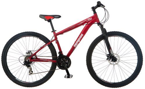 Mongoose Men's Impasse HD Mountain Bicycle (29-Inch Wheels), Matte Red, 18-Inch