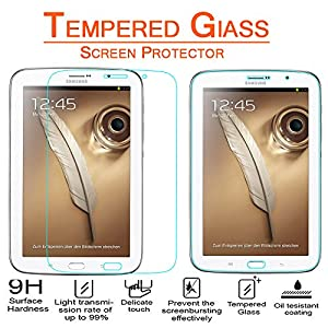 Anoke® Samsung Galaxy Note 8.0 inch GT - N5100 / N5110 Tempered Glass Screen Protectors 9h Hardness, 0.3mm Thickness For (N5100 )