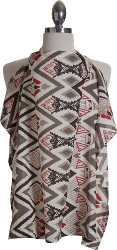 Baybee Ethiks Fair Trade Nursing Cover + Carrying Case; Summer Weight Cotton