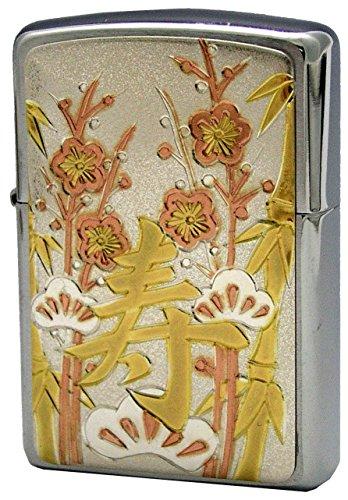 ZIPPO (Zippo) oil lighter NO200 silver Chinese character Kotobuki silver 63290198