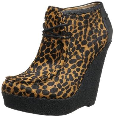 Nine West Women's Lagui Boot,Natural Multi/Black Pony,7 M US