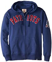 NFL New England Patriots Men's Striker Full Zip Jacket by Twins Enterprise/47 Brand