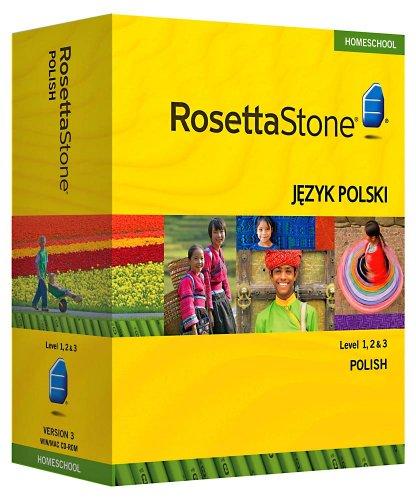 Rosetta Stone Homeschool Polish Level 1-3 Set including Audio Companion