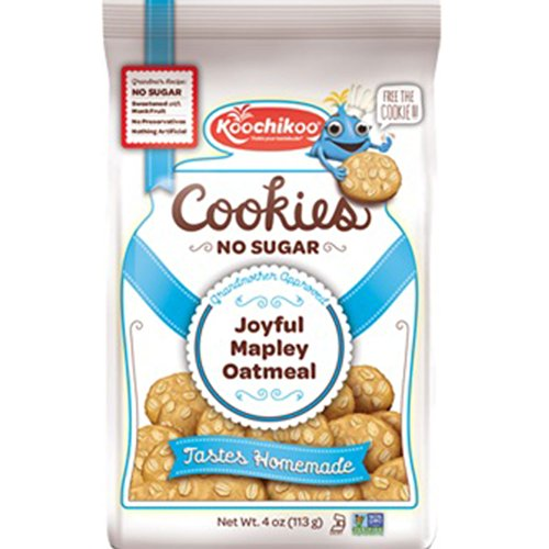 Sugar Free Cookies (3Pack/Bags) Sweetened With Monk Fruit Extract Non Gmo Kosher Vegan Certified By Koochikoo (Maple Oatmeal)
