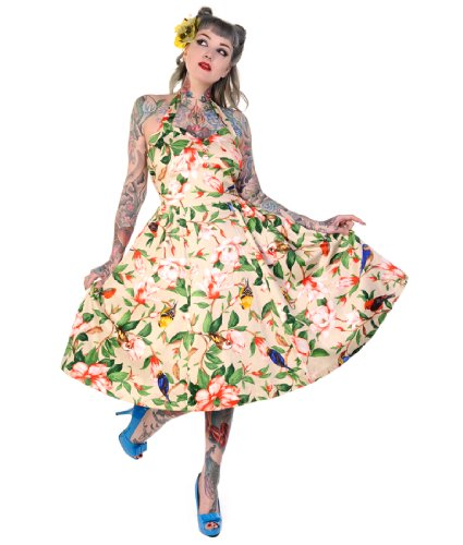Banned Floral Bird Summer 50's Dress - UK 12 (M)