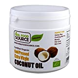 RealFoodSource Certified Organic Extra Virgin Cold Pressed Coconut Oil 500ml THREE Pack