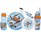 Zak Designs Disney 6-Piece Kids Mealtime Set, Planes