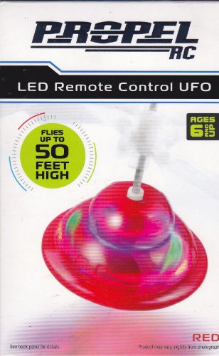 Propel Rc Led Remote Control Ufo Hovermaxx Red