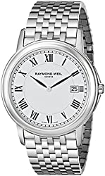 """Raymond Weil Men's 5466-ST-00300 """"Tradition"""" Stainless Steel Watch"""