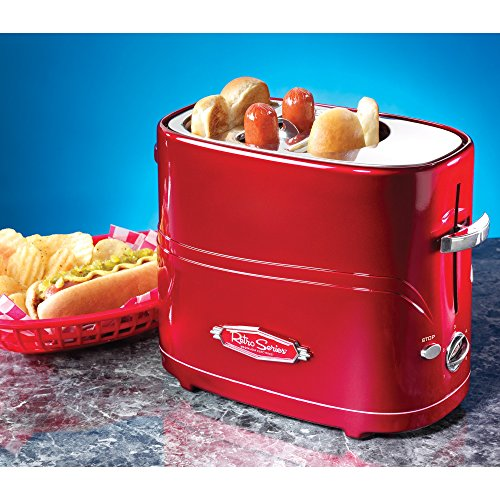 1950 American Diner Retro Red Style Pop-Up Hot Dog e Bun Tostapane - Boxed