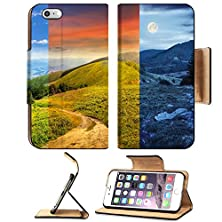 buy Apple Iphone 6 Plus Iphone 6S Plus Flip Pu Leather Wallet Case Day Nad Night Collage Of Composite Mountain Landscape Pine Trees And Boulders Near Image 35145539 By Msd Customized Premium