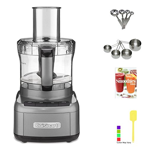 Cuisinart FP8GM Elemental 8 Cup Food Processor (Gunmetal) with Kitchen Accessory Kit