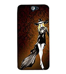 Walk in a Style Girl 3D Hard Polycarbonate Designer Back Case Cover for HTC One A9