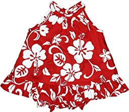 RJC Baby Girls Classic Hibiscus Halter 2pc Set Red 4T