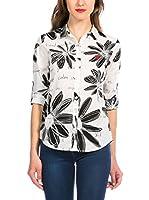 Desigual Camisa Mujer Magdela (Blanco / Negro)