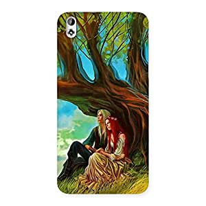 Special Couple Under Tree Multicolor Back Case Cover for HTC Desire 816